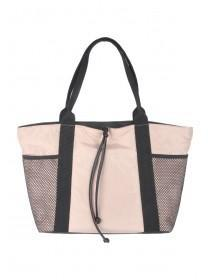 Womens Nude Mesh Pocket Sports Tote Bag