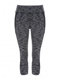 Womens Active Spacedye Cropped Leggings