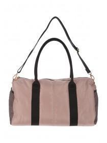 Womens Mesh Pocket Sports Barrel Bag