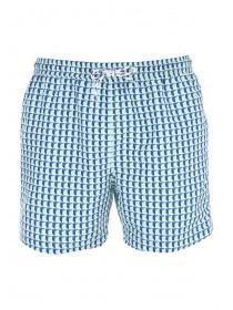Mens Aqua Print Swim Shorts