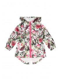 Younger Girls Cream Mesh Lined Cagoule