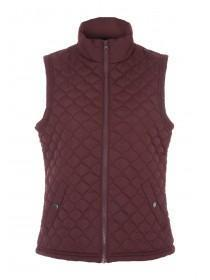 Womens Red Padded Gilet