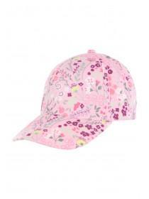 Younger Girls Pink Ditsy Floral Baseball Cap