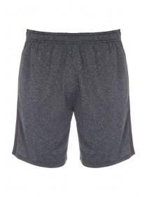 Mens Grey Stretch Textured Shorts