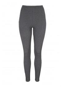 Womens Grey Jacquard Leggings