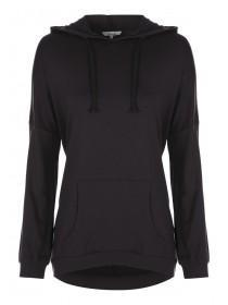 Womens Black Hooded Sweater