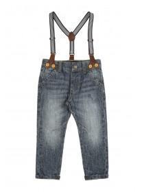 Younger Boys Blue Slim Jean Braces