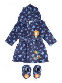 Baby Boy Blue Robe and Bootie Set