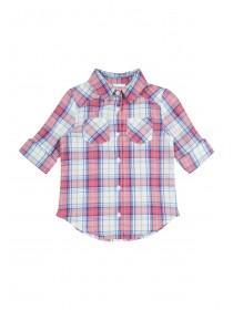 Younger Girls Pink Check Shirt