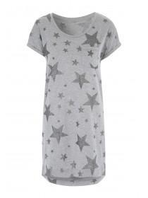 Womens Grey Star Nightdress