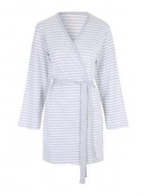 Womens Grey Jersey Robe