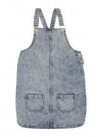 Older Girls Blue Denim Romantic Pinny Dress