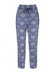 Womens Light Blue Viscose Pyjama Trousers