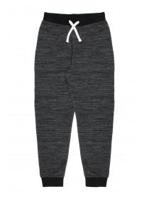 Older Boys Black Space Dyed Jogger