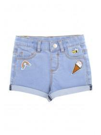 Younger Girls Blue Badge Shorts