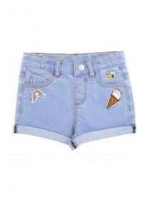 Younger Girls Blue Badge Shorts
