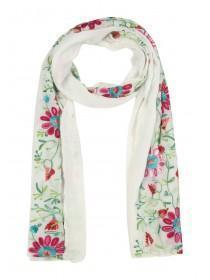 Womens Embroidered Pashmina Scarf