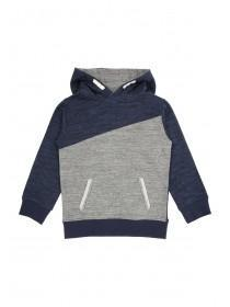 Younger Boys Over The Head Panel Hoody Slub