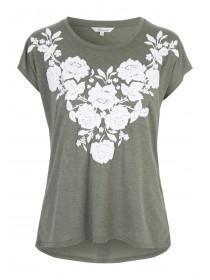 Womens Khaki Puff Print T-Shirt