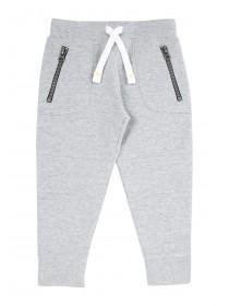 Younger Boys Grey Silm Joggers