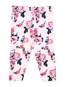 Baby Girl Rose Print Leggings