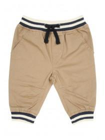 Baby Boy Tan Pull-On Trouser