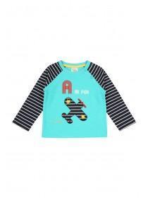 Baby Boys Teal Aeroplane T-Shirt