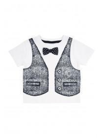Baby Boys Waistcoat & Bowtie T-Shirt