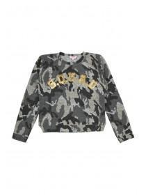 Older Girls Camo Squad Sweater
