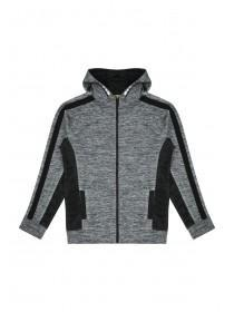 Older Boys Grey Space Dyed Tricot Hoody