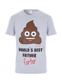 Mens Grey Emoji Pyjama T-Shirt