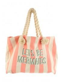 Womens Lets Be Mermaids Beach Bag