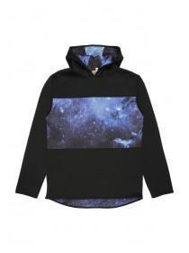 Older Boys Black Galaxy Panel Mesh Hoody