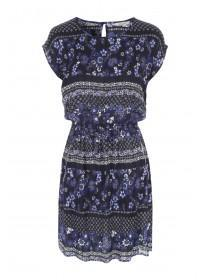 Womens Dark Blue Zip Detail Tunic Dress