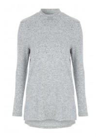 Womens Grey Cosy Funnel Top