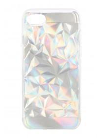 Silver Iridescent Texture iPhone Case