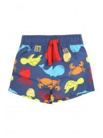 Baby Boys Blue Sea Creature Swimshorts