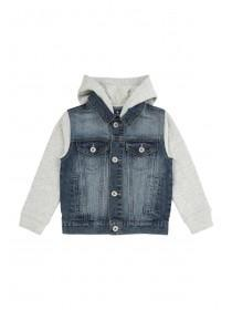 Younger Boys Hooded Denim Jacket