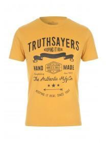 Mens Mustard Graphic T-Shirt