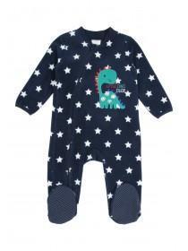 Baby Boy Fleece Dino Sleepsuit