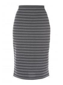 Womens Jacquard Midi Skirt