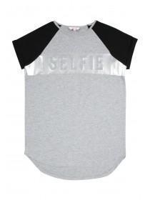 Older Girls Grey Selfie T-Shirt