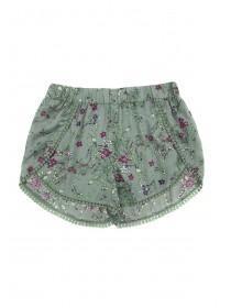 Older Girls Khaki Floral Shorts