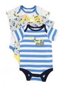 Baby Boys 3PK Digger Bodysuits
