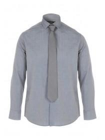 Mens Charcoal Shirt and Tie Set