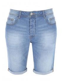 Mens Blue Slim Denim Shorts