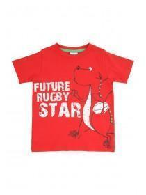 Younger Boys Red Wales Rugby Star T-Shirt