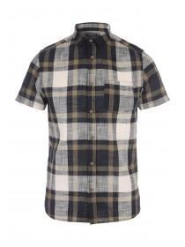 Mens Tan Open Check Shirt