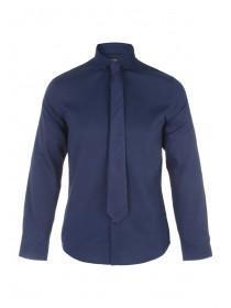 Mens Dark Blue Shirt and Tie