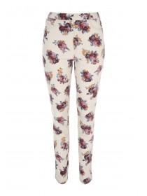 Womens Cream Kate Printed Jeggings